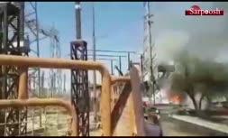 فیلم/ آتشسوزی در نیروگاه حرارتی زرگان به علت انفجار ترانس