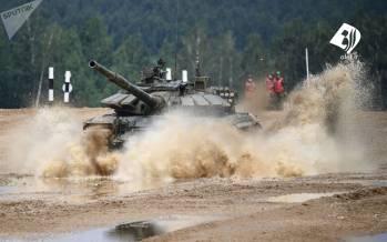 تصاویر مسابقات نظامی روسیه,عکس های مسابقه نظامی ارتش روسیه,تصاویر مسابقه تانک ها در روسیه