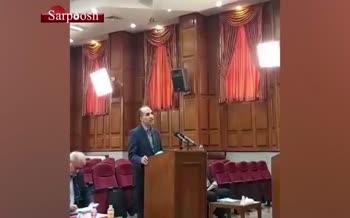 فیلم/ هشتمین جلسه رسیدگی به اتهامات اکبر طبری؛ وکیل دانیال زاده: موکلم چارهای جز اخذ تسهیلات بانک ملی نداشته است