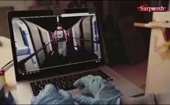 فیلم/ اثر جدید بنکسی با موضوع زدن ماسک در مترو