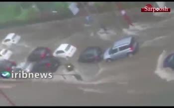 فیلم/ سیل شدید در جزیره سیسیل ایتالیا