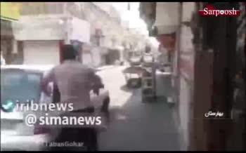 فیلم/ سرقت مسلحانه از طلافروشی در جاده ساوه - تهران