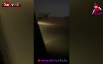 فیلم/ حمله به نیروهای آمریکایی در عراق و به آتش کشیدن ۳ زره پوش