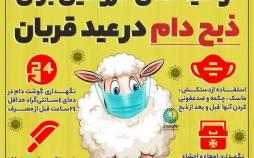 اینفوگرافیک در مورد توصیه های کرونایی ذبح وام در عید قربان