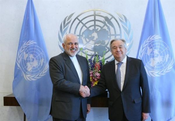 ظریف خطاب به دبیرکل سازمان ملل: آمریکا عضو برجام نیست