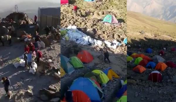 جمعیت زیاد در کوه دماوند,اخبار ورزشی,خبرهای ورزشی,حواشی ورزش
