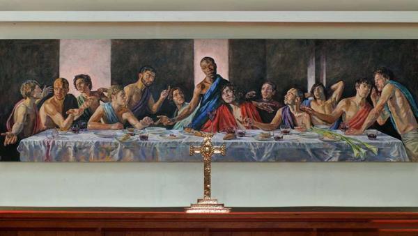 تصویر بحث برانگیز از مسیح( ع) در یک کلیسای قدیمی,اخبار جالب,خبرهای جالب,خواندنی ها و دیدنی ها