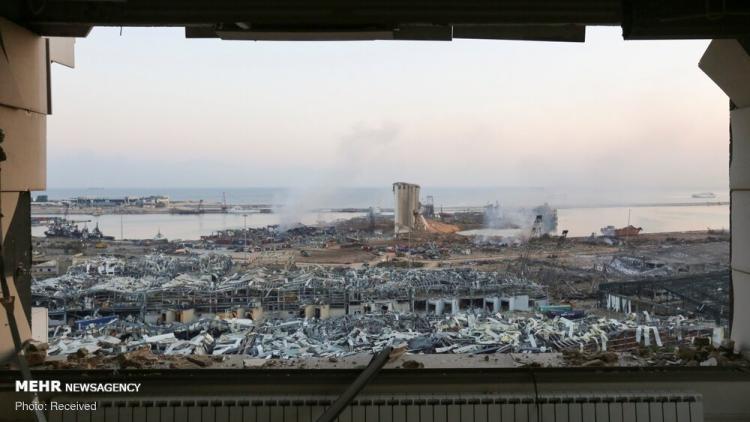 تصاویر ویرانی های به جا مانده از انفجار بیروت,عکس های بیروت بعد از انفجار,تصاویر انفجار در بیروت