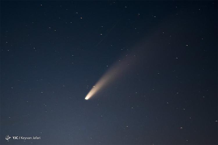 تصاویر دنبالهدار پرنور نئووایز در ایران,عکس های دنبالهدار پرنور نئووایز در آسمان ایران,تصاویری از دنباله دار Neowise در ایران