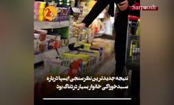 سفرههای خالی مردم/ واقعیاتی تلخ درباره سبد خوراکی خانوارهای ایرانی