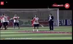 فیلم/ مراسم اهدای جام لیگ دسته یک فوتبال ایران به تیم مس رفسنجان