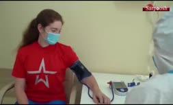 فیلم/ تزریق واکسن کرونای روسی به دختر پوتین