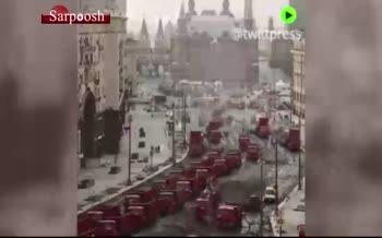 فیلم/ آسفالت کردن خیابانی در مرکز مسکو در کمترین زمان