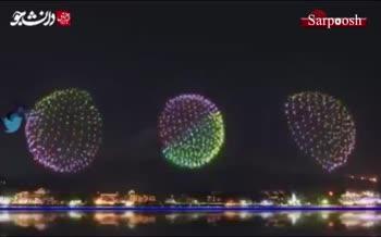 فیلم/ آتشبازی افتتاحیه المپیک در کوهپایه کوه فوجی