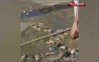 فیلم/ زن اهوازی: فرزاندانم از مصرف آب آلوده هپاتیت گرفته اند