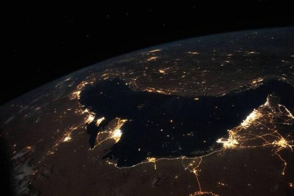 خلیج فارس از فضا,اخبار علمی,خبرهای علمی,نجوم و فضا