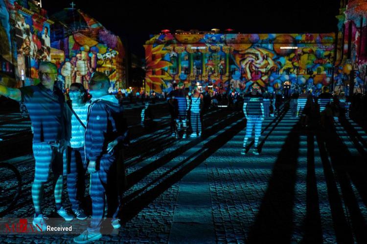 تصاویر جشنواره نور در برلین,عکس های جشنواره نور در آلمان,تصاویر جشنواره سالانه ی نور برلین