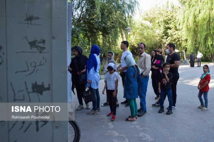 تصاویر آخر هفتههای کرونایی در پارک جنگلی ناژوان اصفهان,عکس های پارک ناژوان در اصفهان,تصاویر پارک ناژوان در شرایط کرونا
