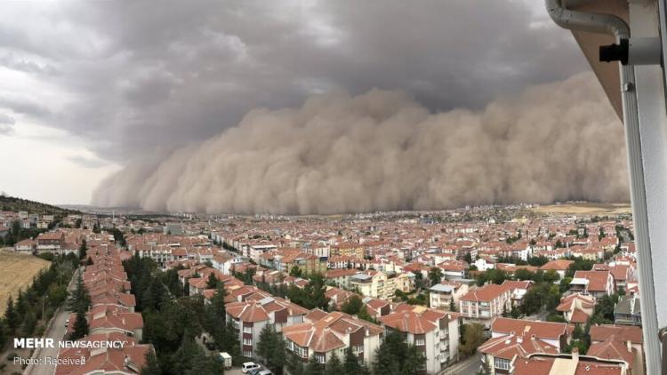 تصاویر طوفان شن در پایتخت ترکیه,عکس های طوفان شن در ترکیه,تصاویری از طوفان در ترکیه