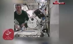 فیلم/ نحوه خوابیدن فضانوردان در فضا