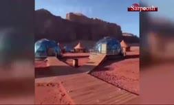 فیلم/ هتل صحرایی در اردن