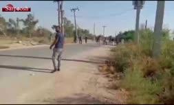 فیلم/ حمله ماموران تخریب به روستایی در اهواز با شکایت بنیاد مستضعفان