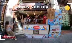 فیلم/ نمایش جالب بستنی فروش ترکیهای