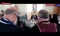 فیلم/ مراسم ختم سرژیک تیموریان در آرامستان ارامنه