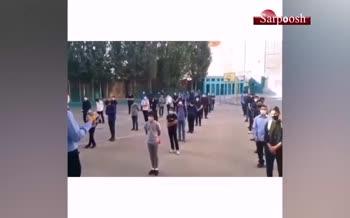 فیلم/ غش کردن یک دانش آموز سر صف مدرسه!