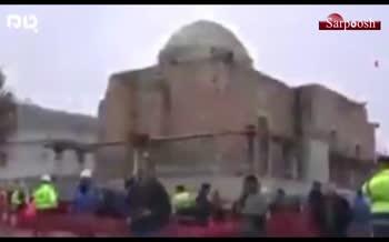 فیلم/ جابجایی مسجد ۶۱۰ ساله در ترکیه