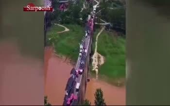 فیلم/ روستایی جذاب روی یک پل در چین