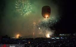 تصاویر فستیوال فانوسهای آتشین میانمار,عکس های فستیوال فانوسهای آتشین میانمار,تصاویر فستیوال های پاییزی در میانمار