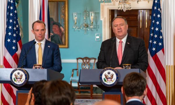 مایک پومپئو و وزیر خارجه انگلیس,اخبار سیاسی,خبرهای سیاسی,سیاست خارجی