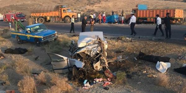 تصادف در جاده سرخس - مشهد,اخبار حوادث,خبرهای حوادث,حوادث