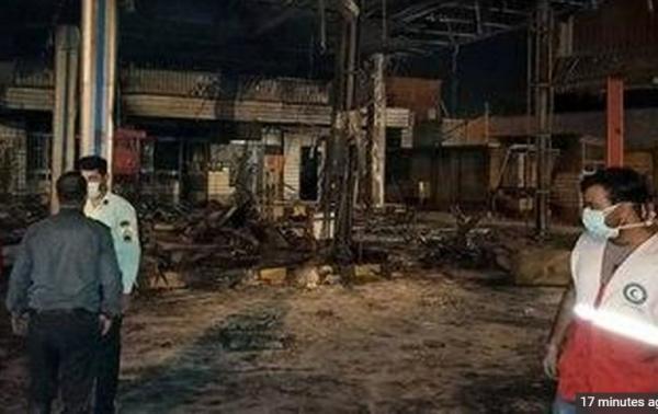 آتش سوزی در پمپ بنزین تاکستان,اخبار حوادث,خبرهای حوادث,حوادث امروز