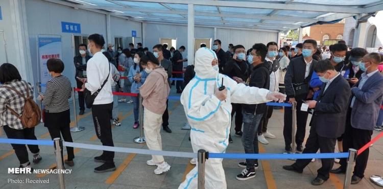 تصاویر تست کرونا در چین,عکس های گرفتن تست کرونا در چین,تصاویری از گرفتن تست کرونا در کشور چین