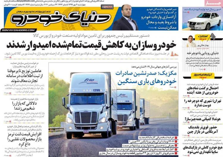 عناوین روزنامه های اقتصادی چهارشنبه 2 مهر 1399,روزنامه,روزنامه های امروز,روزنامه های اقتصادی