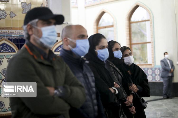 تصاویر مراسم تشییع و اقامه نماز استاد محمدرضا شجریان,عکس های اقامه نماز برای استاد شجریان,تصاویر تشییع پیکر شجریان در بهشت زهرا