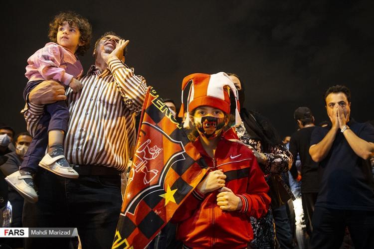 تصاویر شادی هواداران پرسپولیس پس از صعود به فینال آسیا,تصاویر خوشحالی طرفداران پرسپولیس,تصاویر خوشحالی هواداران پرسپولیس پس از شکست النصر