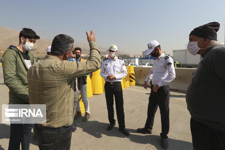 تصاویر کنترل تردد خودروها در مبادی ورودی خروجی تهران,عکس های کنترل ترددها در تهران,تصاویر پلیس راه تهران