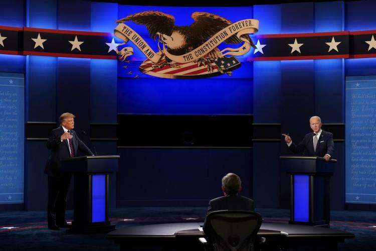 تصاویر مناظره انتخاباتی جو بایدن و ترامپ,عکس های اولین مناظره انتخاباتی دونالد ترامپ و جو بایدن,تصاویر مناظره جو بایدن با ترامپ