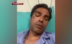 فیلم/ پیام امیرحسین صادقی پس از تصادف خونین