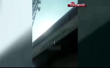 فیلم/ سقوط وحشتناک کارگر از بالای برج مخابراتی