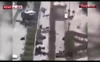 فیلمی دلخراش از حمله به مراسم رژه اهواز در سال 97