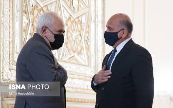 تصاویر دیدار وزرای امورخارجه عراق و ایران,عکس های دیدار ظریف و وزیر امور خارجه عراق,دیدار وزیر خارجه ایران و عراق