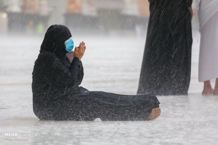 تصاویر بارش باران در مکه,عکس های بارش باران در خانه خدا,تصاویر بارش باران در مکه مکرمه