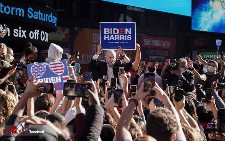 تصاویر شادی مردم آمریکا پس از انتخابات 2020,عکس های طرفداران جو بایدن,تصاویر شادی طرفداران جو بایدن
