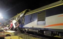 برخورد دو قطار مسافری و باری در راه آهن قزوین,اخبار حوادث,خبرهای حوادث,حوادث