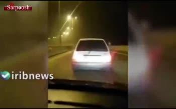 فیلم/ زورگيران و قمه کش های آزادراه تهران - شمال