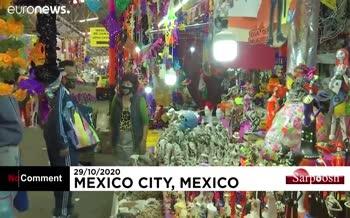 فیلم/ برگزاری جشنهای «روز مردگان» در مکزیک در اوج شیوع ویروس کرونا